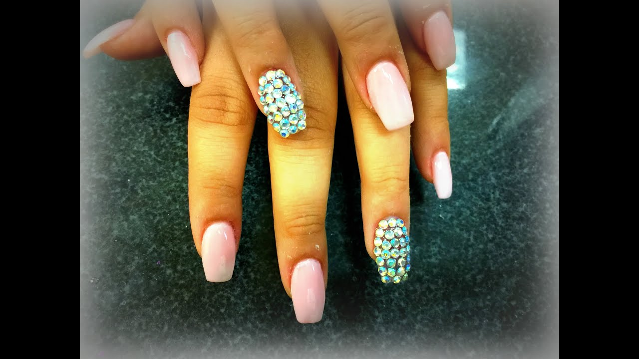 Acrylic Nails | How to Do Coffin Nails | Bling Design ...