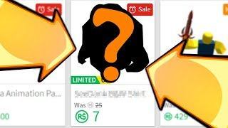ROBLOX BROUGHT BACK THIS RARE ITEM ON SALE!!
