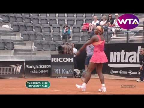 Serena Williams vs Timea Bacsinszky - 2010 Rome R2 Highlights
