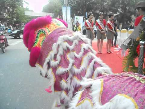 Lion Dance Viet Nam _ Đoàn lân sư rồng Bạch Ngọc Đường ( 0909309446 ) Vietjet Air 1