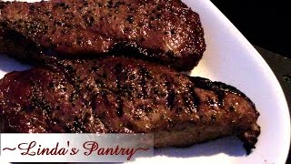~quick Dry Aged New Yorks Strip Steaks With Linda's Pantry~