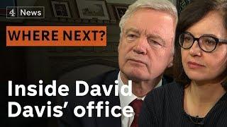 Inside David Davis' office - with Caroline Flint