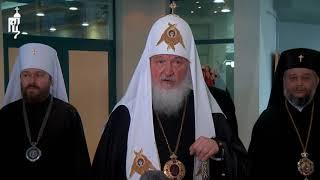 В завершение визита в Болгарию Святейший Патриарх Кирилл ответил на вопросы представителей СМИ