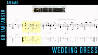Wedding Dress by Taeyang Fingerstyle Guitar Tabs - Sungha Jung
