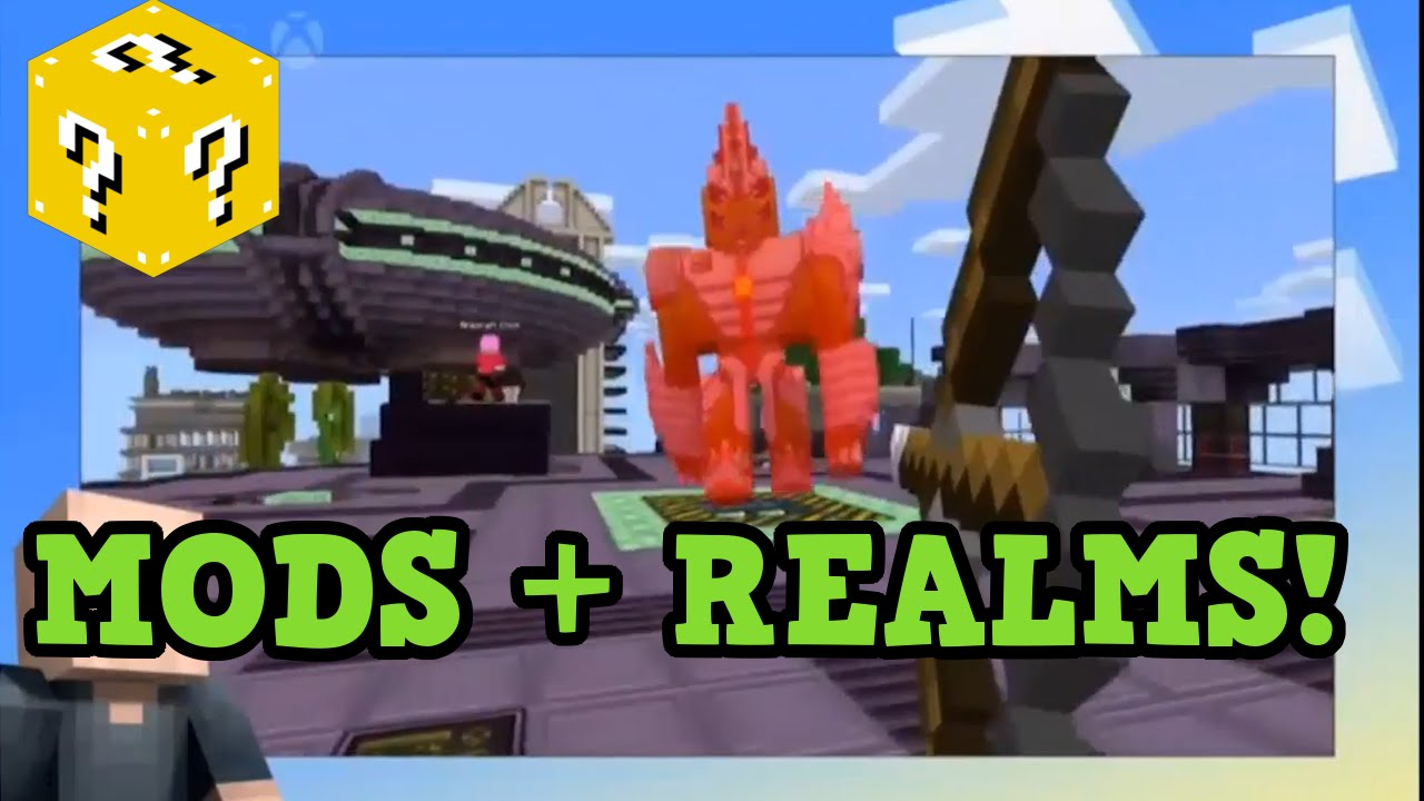 Minecraft Xbox 360 / PS3 MODS REALMS Update Confirmed 2017