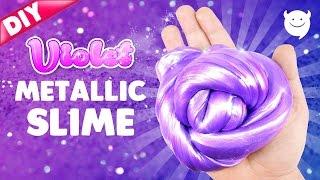 DIY Violet Metallic Slime ! Metals Putty Slime | MonsterKids