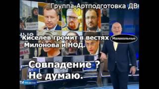 Киселев в эфире жестко опустил Милонова, Федорова, НОД и