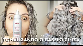 tutorial tonalizando cabelo cinza pela primeira vez