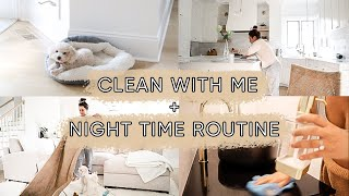 Nighttime routine and clean with me! | ELA BOBAK
