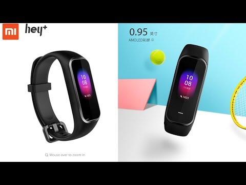 Original Xiaomi Hey Plus 1S AMOLED Color Screen NFC Wristband Mijia Heart Rate Monitor (RisoFan💻)