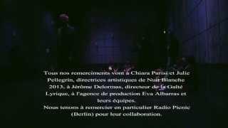 Q.i Q.i ( les oiseaux) RAM radioartemobile à NUIT BLANCHE PARIS 5 OCTOBER 13