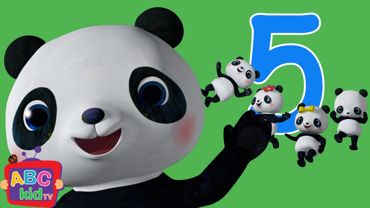 Five Little Pandas Jumping on the Bed | CoCoMelon Nursery Rhymes & Kids Songs