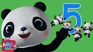 Five Little Pandas Jumping on the Bed   CoComelon Nursery Rhymes & Kids Songs