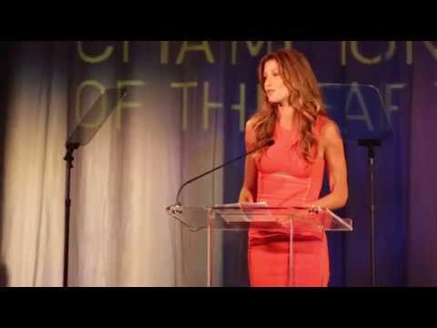 Gisele Bündchen's speech at UNEP's Champions of the Earth Award Ceremony 2013