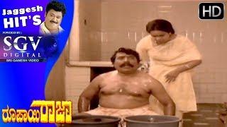 Jaggesh Comedy Scenes - Honavalli Krishna and Umashree comedy in supermarket | Roopayi Raj Movie