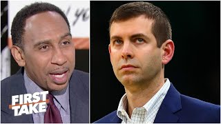 Stephen A. reacts to the Celtics' loss to the Mavs. Should Brad Stevens' job be in jeopardy?