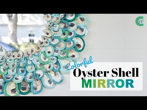 Colorful Oyster Shell Wreath
