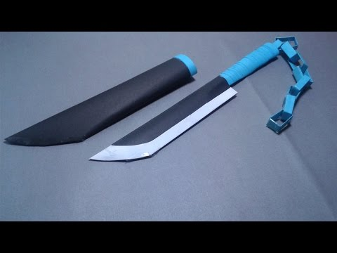 | DIY| How to make a paper  NİNJA KNIFE-EASY TUTORİAL-