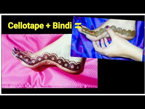 Amazing Mehandi Design Made From Bindi thumbnail