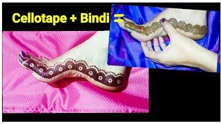 Amazing Mehandi Design Made From Bindi