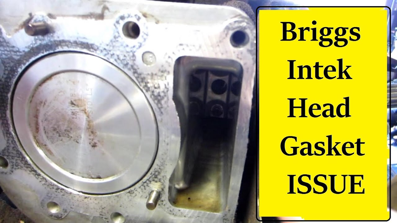 Briggs Intek Head Gasket Symptoms Youtube Small Engine Cylinder Diagram