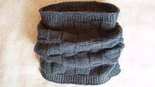 Jak zrobić komin/szalik męski - Na drutach