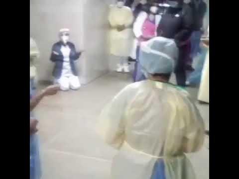 Rezan en hospital para que Dios cure pacientes covid-19