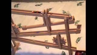 Retro Vintage Marble Game Wooden Homemade, Unique, Oddity