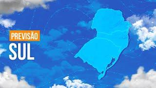 Previsão Sul - Chuva fica concentrada na costa de Santa Catarina