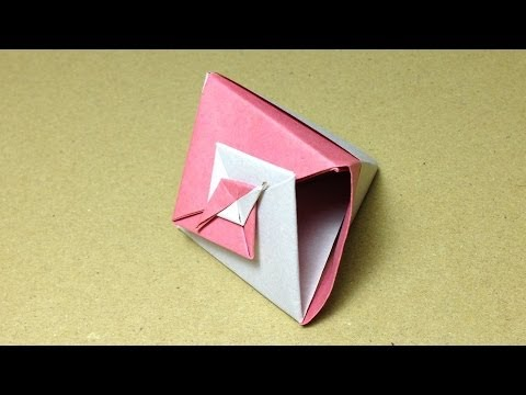 ... 箱)の折り方 作り方 二色折り