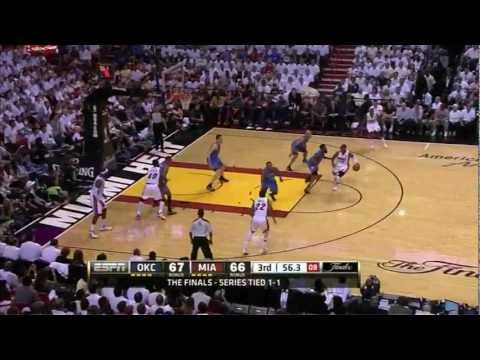 Dwyane Wade 25 points vs Oklahoma City Thunder full highlights GM3 NBA FINALS 2012.06.17 HD