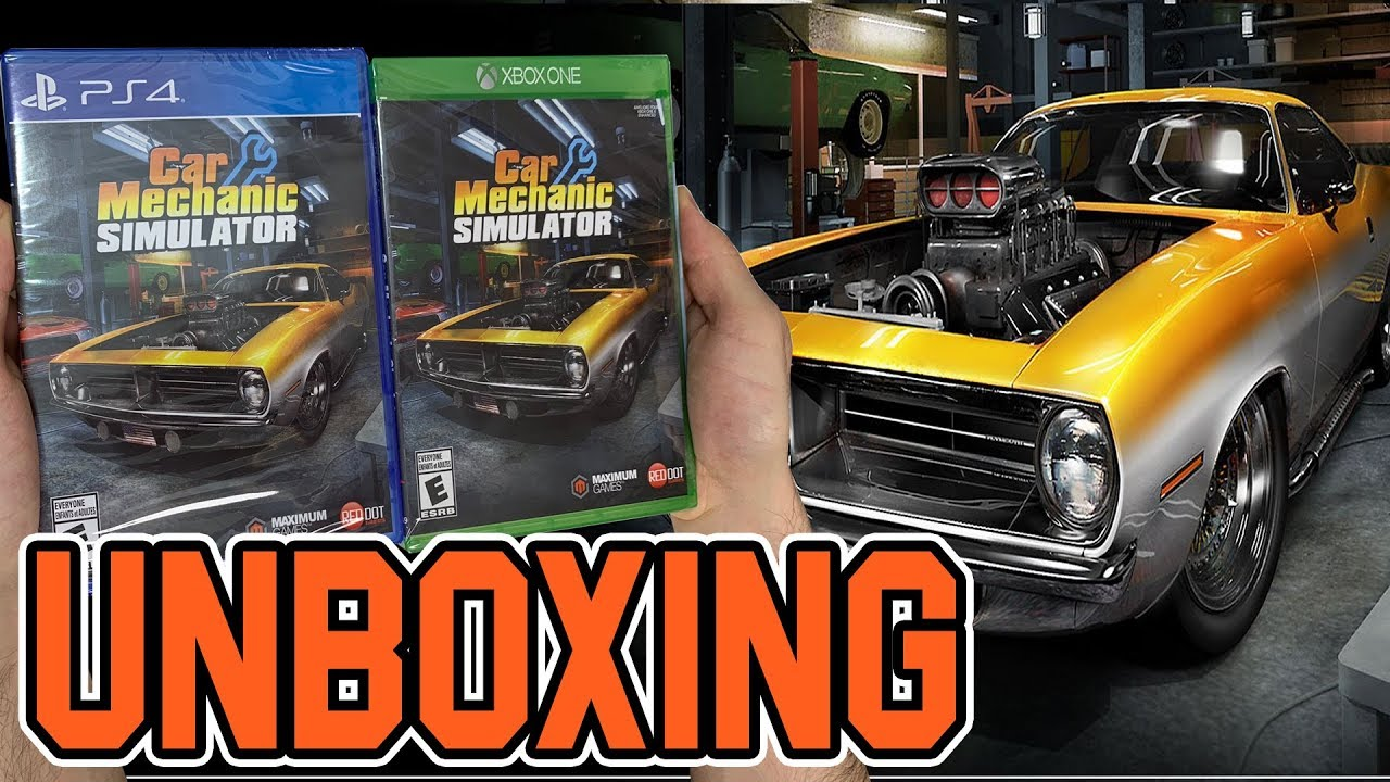 Car Mechanic Simulator Ps4 Xbox One Unboxing Youtube