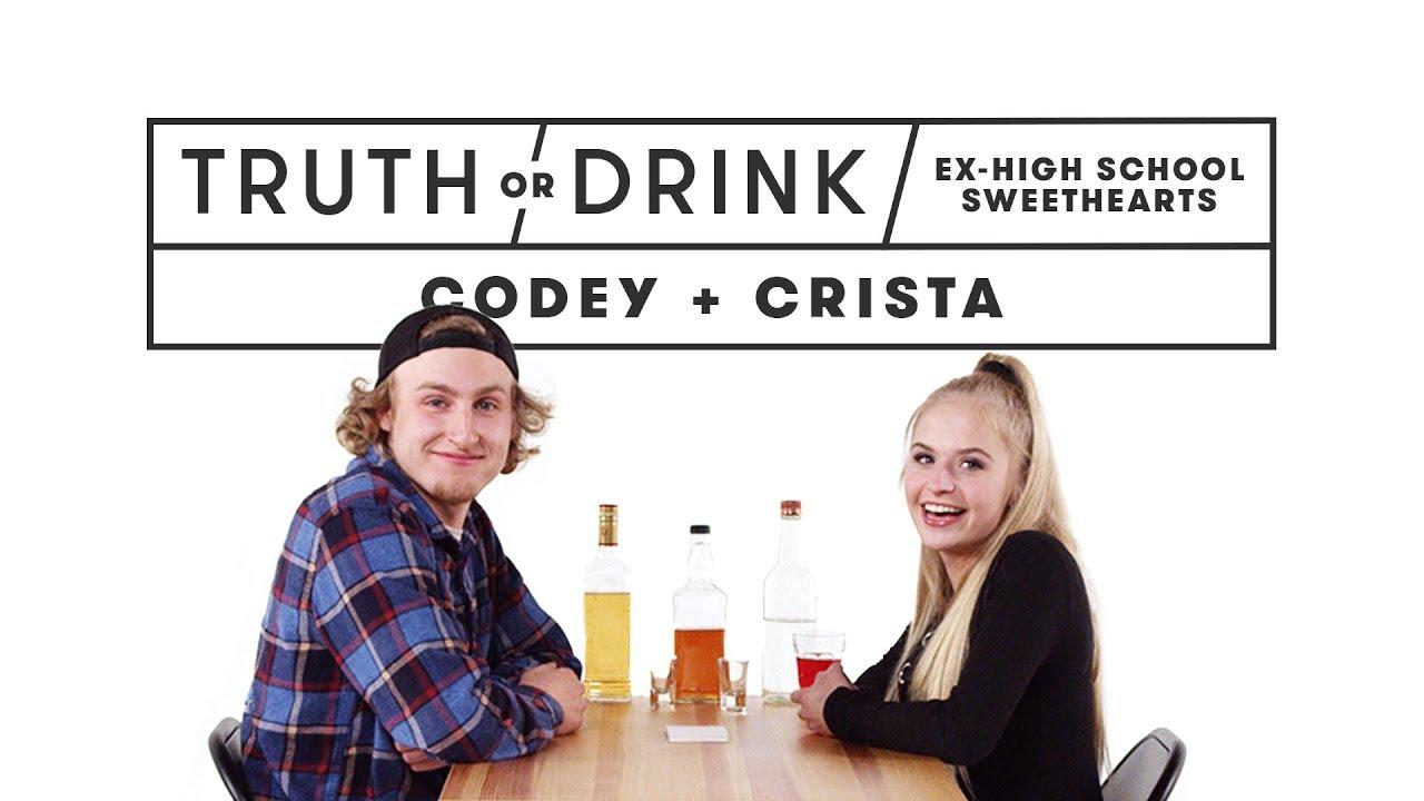 Ex High School Sweethearts (Codey & Crista) | Truth or Drink | Cut