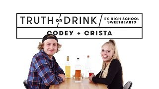 Ex High School Sweethearts (Codey & Crista) | Truth or Drink | Cut