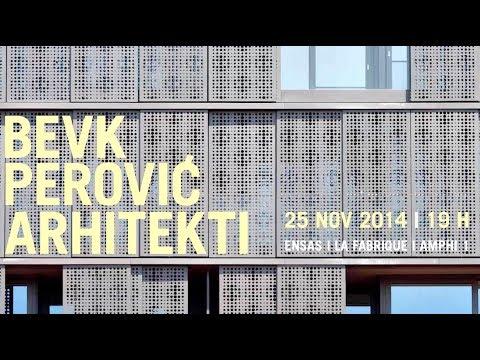 Vasa J. Perović - Agence Bevk Perović Arhitekti - Slovénie