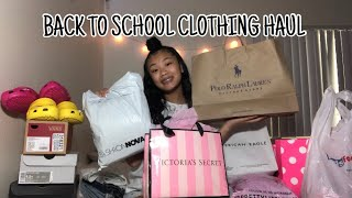 BACK TO SCHOOL CLOTHING HAUL + TRY ONS ( PINK, JORDANS, NIKE, FASHION NOVA, VANS ET. )