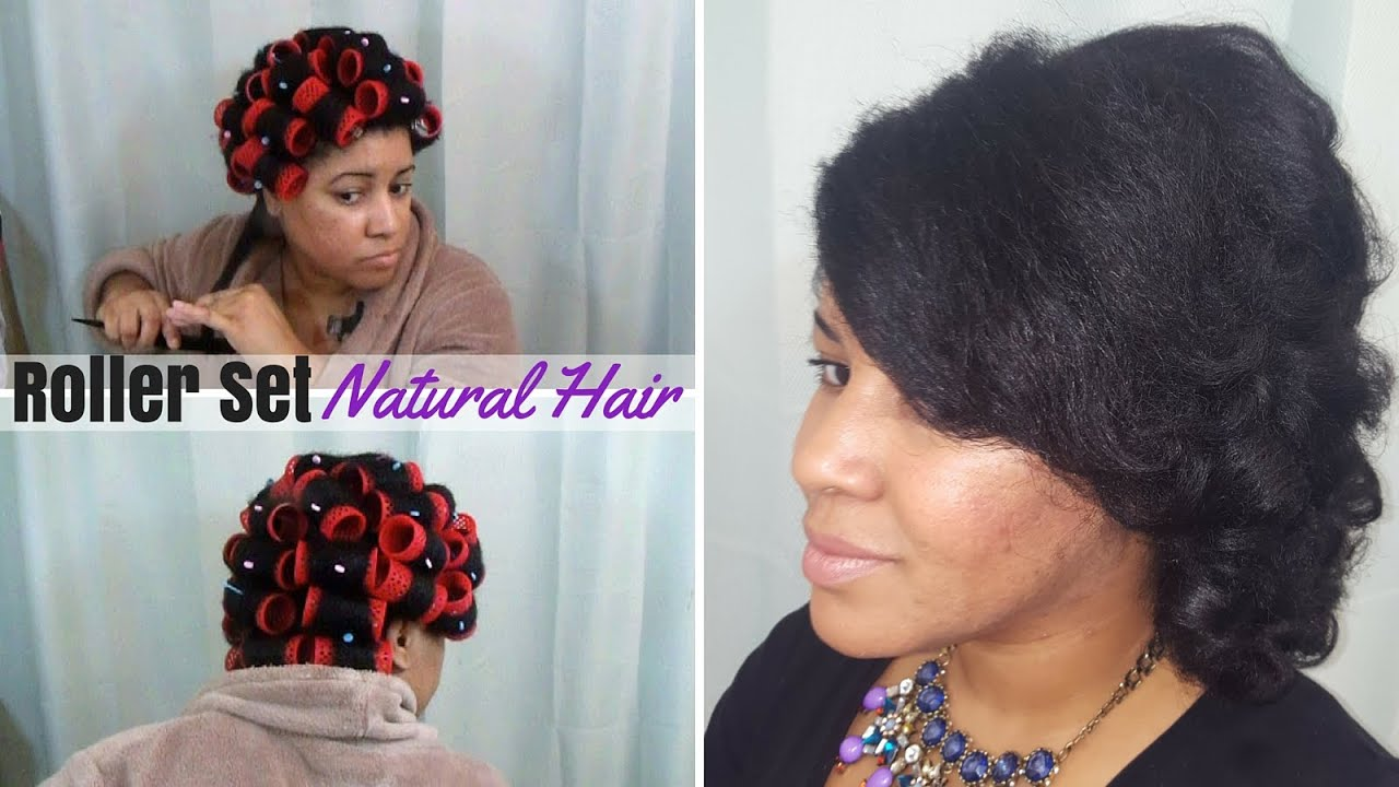 Smooth Rollerset On 4c Natural Hair Youtube