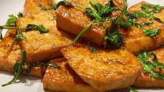 素食料理Vegan|豆腐這樣做太好吃了,加些香菜,香而不膩!Tofu cook like this super delicious!《照燒豆腐 | Teriyaki Tofu》