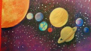 Solar system drawing/ Planets drawing for kids