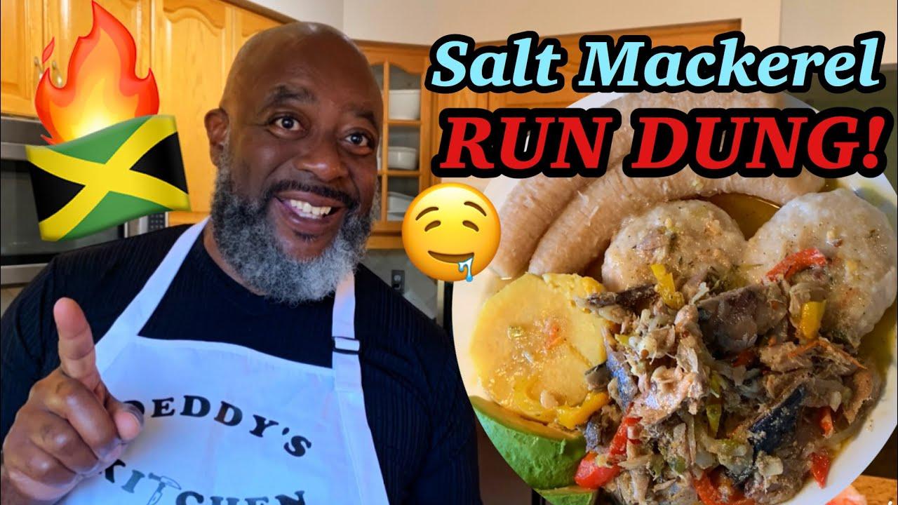 """how to cook salt mackerel rundown jamaican """"run dung"""