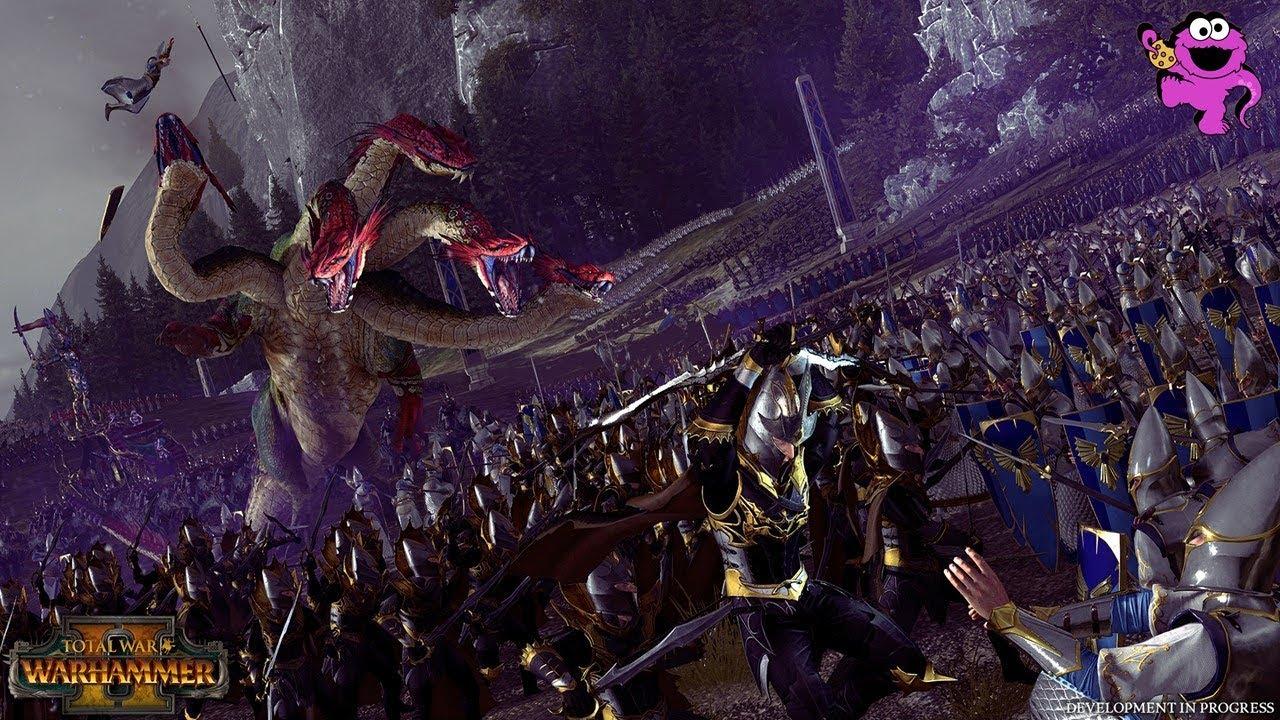 Total War Warhammer 2 - Dark Elves vs. High Elves Battle Gameplay Discussion - YouTube