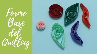 Tutorial: Forme BASE del QUILLING (ENG SUBS - DIY basic shapes for quilling)