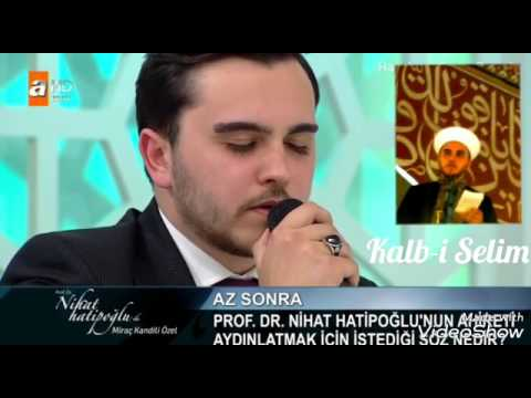 Selimiye Camii imam hatibi dünya birincisi AlpCan Çelik Kandil programında muhteşem bir Amenarrasulu