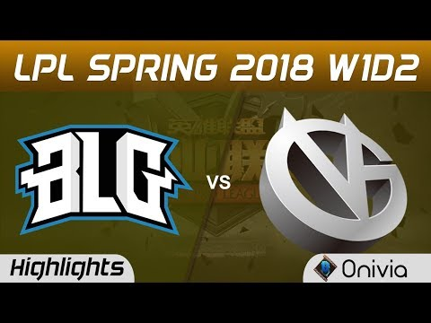 BLG vs VG Highlights Game 1 LPL Spring 2018 W1D2 Bilibili Gaming vs Vici Gaming by Onivia