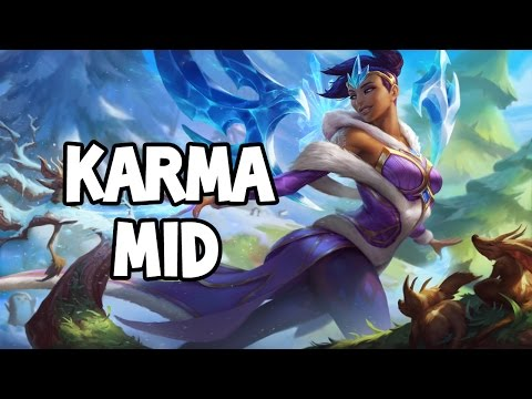 WINTER WONDER KARMA MID GAMEPLAY - League of Legends