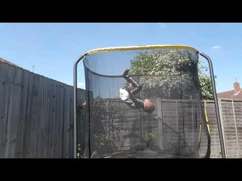 I DONE A BACK FLIP THEN A FRONT FLIP IN ONE] Marley Trampoline Tricks