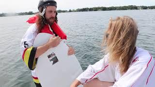 TEACHING PRO HOCKEY PLAYER'S TO WAKE SURF