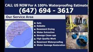 Waterproofing Toronto - FREE Estimates | Toronto Waterproofing