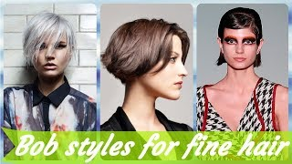 20 Top Beauty 💫 short bob haircuts for fine hair 2019