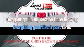 Karaoke Music OMARION FEAT  CHRIS BROWN & JHENE AIKO - POST TO BE